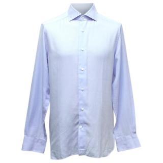 Ermenegildo Zegna Blue Tailored Shirt