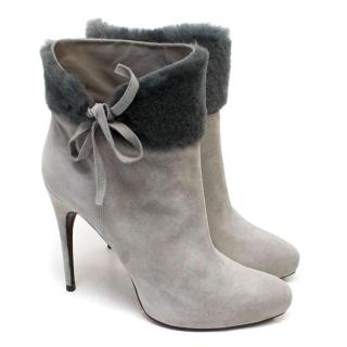 Cesare Paciotti Grey Shearling Boots