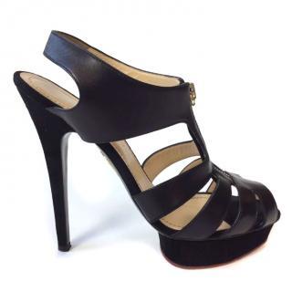 Charlotte Olympia Black Platform Sandals