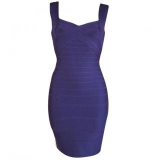 Herve Leger purple bandage dress, size Small