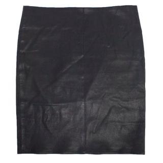 Jitrois Purple Mini Leather Skirt