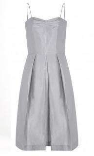 Beulah London Silver Silk Dress