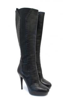 Saint Laurent Black Knee High Boots