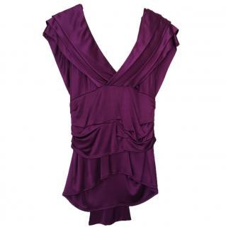 Dior Purple Draped Top