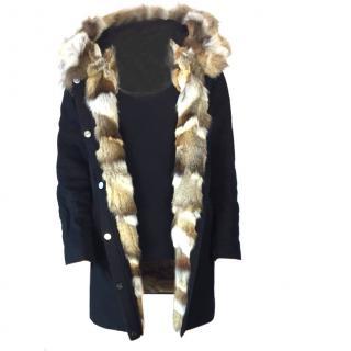 Sprung Freres Fur lined Parka Coat