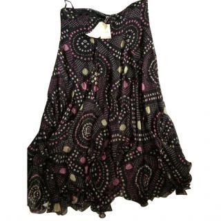 Mathew Williamson Beaded silk maxi skirt