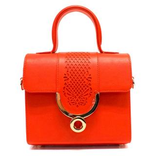 Ennigaldi 'Sarpanit' Leather Orange Handbag