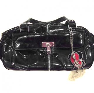 Luella black patent leather bag