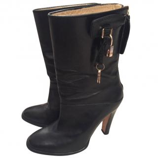 D&G Black Leather Boots