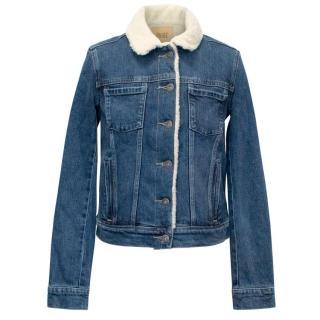 Paige 'Leo' Denim Shearling Jacket