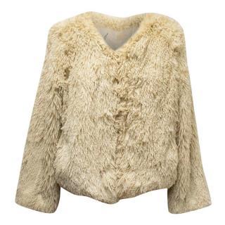 Mother Faux Fur Cream Jacket