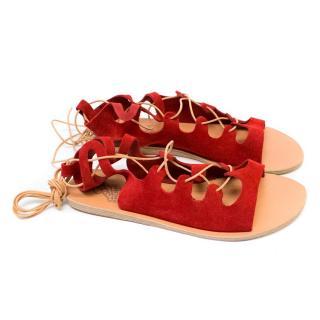 Ancient Greek 'Antigone' Crosta Red Sandals