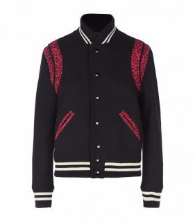 Saint Laurent leopard teddy bomber jacket