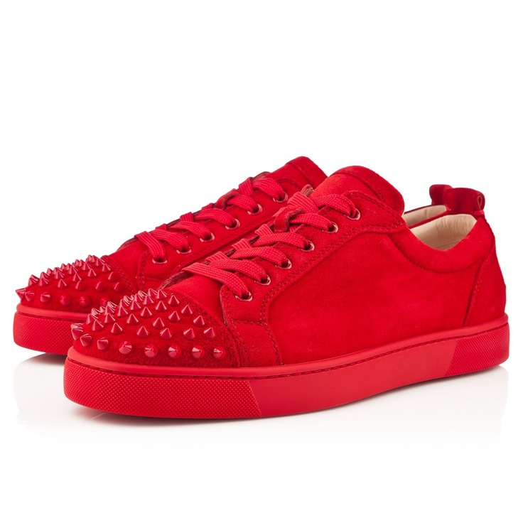 Christian Louboutin Mens Red Spiked