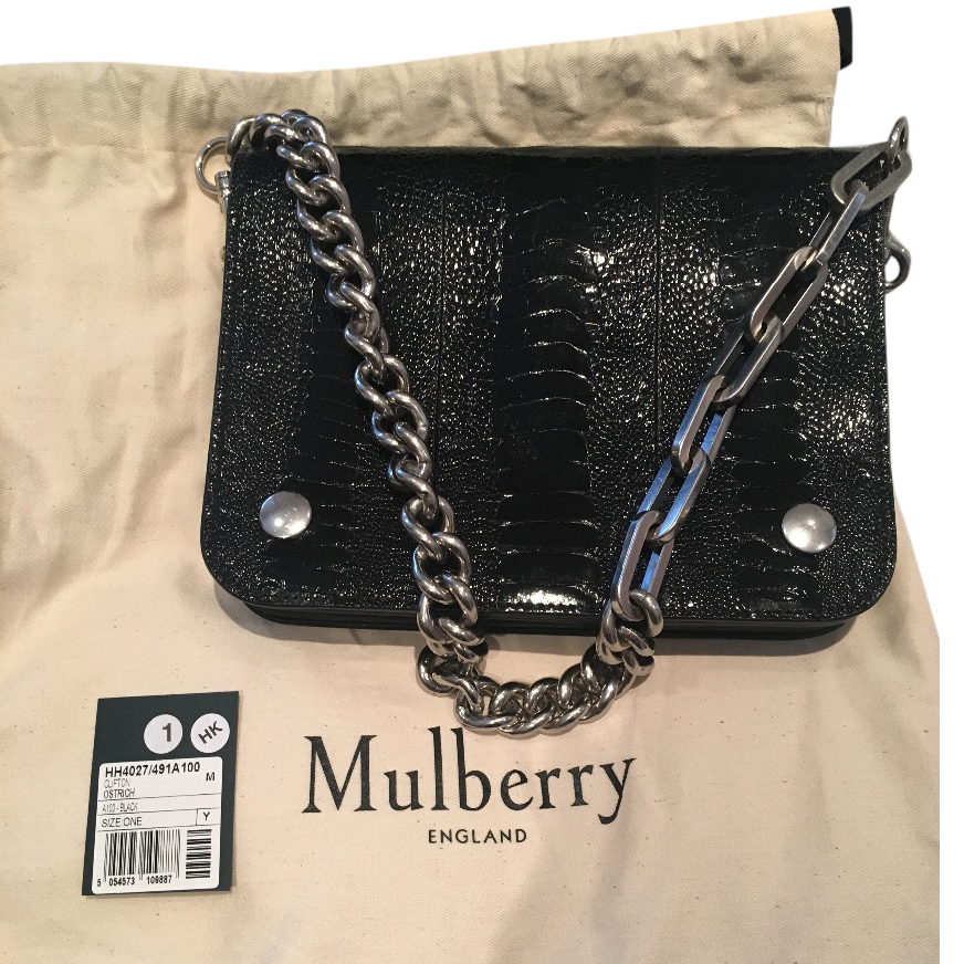 8365b4c536 ... free shipping mulberry clifton black ostrich bag with receipt hewi  london 60f93 c7208