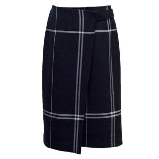 Club Monaco Check Belted Skirt