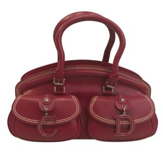 Christian Dior red bag