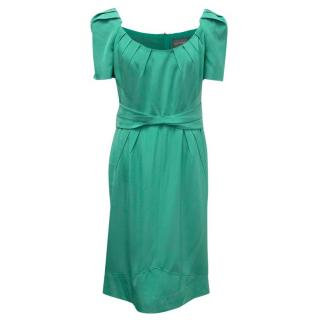 Zac Posen Green Mid Length Shift Dress