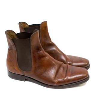 Ralph Lauren Brown Chelsea Boots