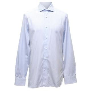 Ermenegildo Zegna Blue Check Shirt