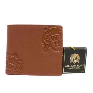 William Hunt Tan Leather Bi-Fold Wallet