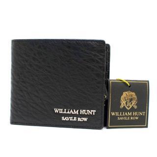 William Hunt Savile Row Black Leather Wallet