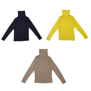 Bonpoint Girls Brown, Mustard, and Navy Turtlenecks