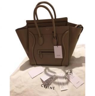 Celine mini luggage handbag with receipt