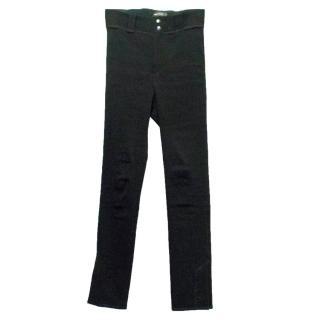 Isabel Marant Black High Waisted Skinny Trousers