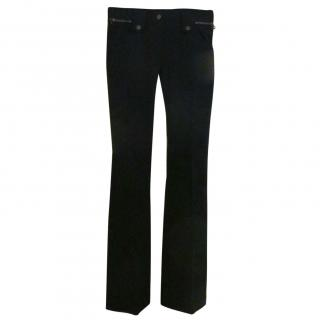 Dolce & Gabbana slim fit flare bottom utility trousers
