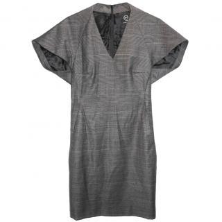 'McQ' by Alexander McQueen Raglan Wool Tartan Dress