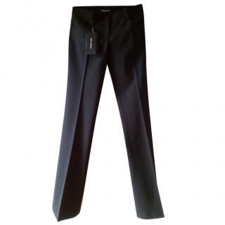 Dolce & Gabbana Black Wool Pants
