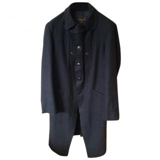 Vivienne Westwood Anglomania Men's  Black Wool Trench Coat