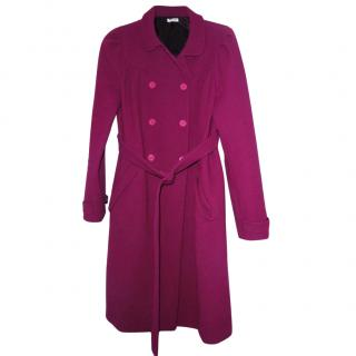Miu Miu Berry Wool Coat