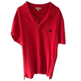Burberry men's polo t shirt