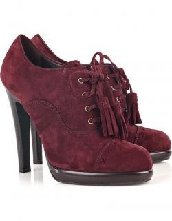 YSL vintage burgundy heels