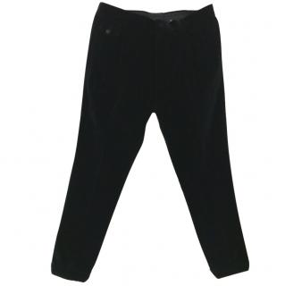 Dolce & Gabbana Men's Black Velvet Trousers