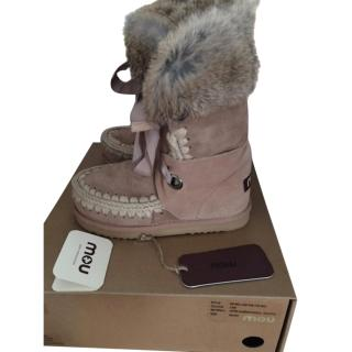 Mou boots with fur