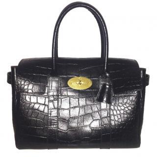 Mulberry Bayswater Croc-Embossed Handbag