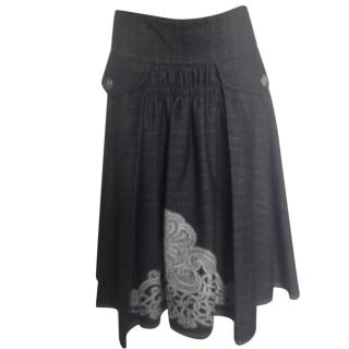 Just Cavalli grey full skirt