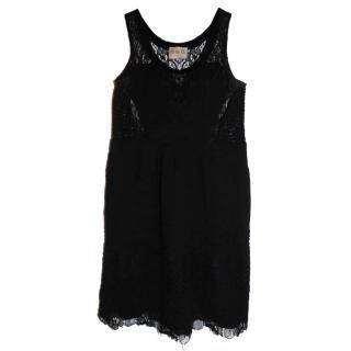 Sea Lace Combo Black Dress