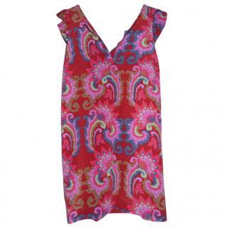 Tibi red floral dress