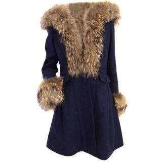 Duohtavuohta Wool Fur Trim Coat