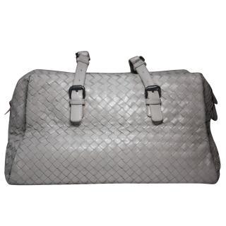 Bottega Veneta Grey Intrecciato Shoulder Tote Bag