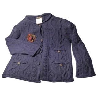 Chanel navy blue cashmere cardigan
