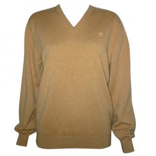 Luella 100% Cashmere School Style V-Neck Jumper ~S-M