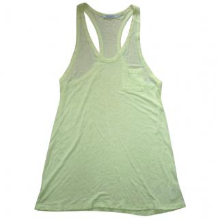 T by Alexander Wang Lime Green Racer Back Long Line Top (Medium)