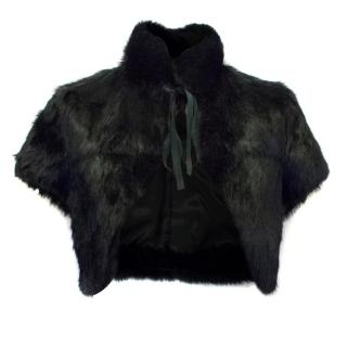 Richmond Denim Black Rabbit Fur Stole