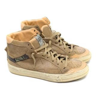 Golden Goose Deluxe Brand Brown High-Top Suede Trainers