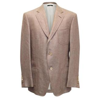 Tom Ford Brown and Cream Patterned Blazer